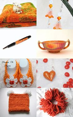 """Orange Sunset"" by ACCrochet Hearts4Hearts Team  --Pinned with TreasuryPin.com"