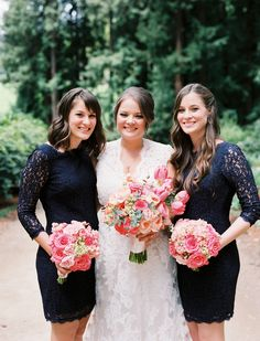 Winter bridesmaid dress and outfit ideas for a seriously stylish winter wedding - Wedding Party Winter Bridesmaid Dresses, Winter Bridesmaids, Wedding Party Dresses, Wedding Bridesmaids, Bridesmaid Inspiration, Wedding Inspiration, Wedding Ideas, Garden Wedding, Dream Wedding