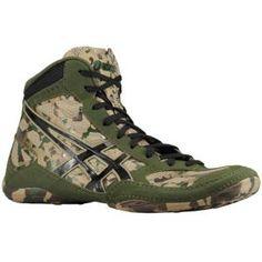 HUNTER's WRESLTING SHOES ASICS® Split Second 9 LE - Men's - Wrestling - Shoes - Khaki/Black/Army Green