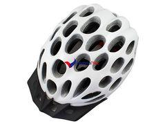 Casque de vélo + visière VTT / Vélo de route (blanc)