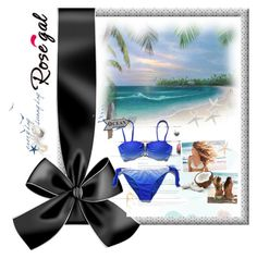 """Ombre Bikini Set"" by armin-i ❤ liked on Polyvore"