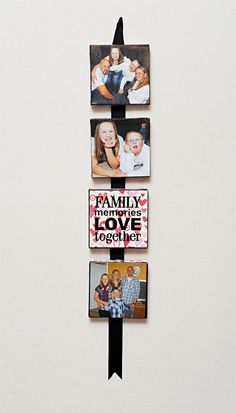 Family Photo Canvas! Hallway art for the kids hallway!