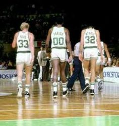 Boston's original big three: Larry Bird, Robert 'the chief Parrish, and Kevin Mchale
