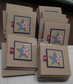 Love this for patriotic theme KeepStamping: Baby Shower invites