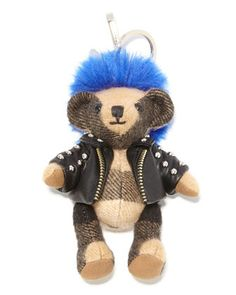 Thomas Punk Check Teddy Bear Purse Charm, Camel by Burberry at Neiman Marcus. Handmade Toys, Handmade Crafts, Holiday Gift Guide, Holiday Gifts, Burberry Bear, Style Hipster, Preppy Style, Punk Rock Girls, Punk Jewelry