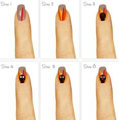 Today I Am Unfolding Before You Easy Step By Thanksgiving Nail Art Tutorials Of 2015 For Beginners Learners