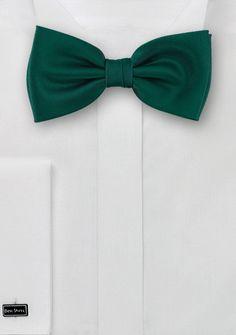 Auffallende Herren-Schleife unifarben tannengrün
