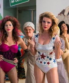 Glitter, Perms, & Pounds Of Hairspray — Inside The World Of 'Glow' Season 2 Makeup Crew, Gorgeous Ladies Of Wrestling, Real Wigs, Group Halloween Costumes, Halloween Ideas, Latest Hair Trends, Classic Lingerie, Texturizer On Natural Hair, 80s Hair