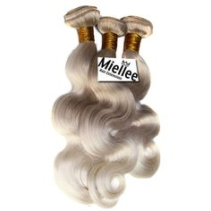 Ash Blonde Ombre Weft Hair Extensions / Luxury by MissMiellee
