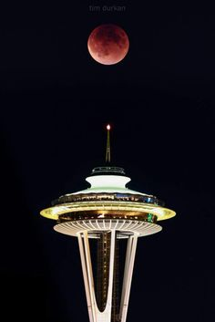 Sept 2015 Super Moon over Seattle