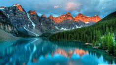 Nice Moraine Lake, and the Valley of the Ten Peaks