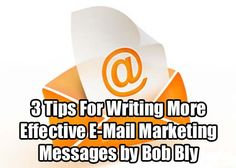 Bob Bly shares 3 strategies with which you can write winning e-mail marketing campaigns to boost clicks and sales: http://www.internetmasterycenter.com/blog/2012/12/21/3-tips-for-writing-more-effective-e-mail-marketing-messages-by-bob-bly/