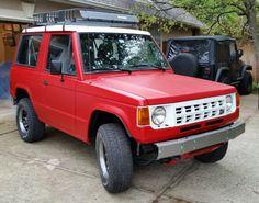 1989 Dodge Raider 4x4 V6 red and white