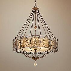 "Feiss Marcella 32 1/4"" Wide British Bronze Chandelier - #W1936 | Lamps Plus"