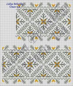 Cross Stitch Art, Cross Stitch Borders, Cross Stitch Flowers, Cross Stitch Patterns, Blackwork Embroidery, Embroidery Stitches, Embroidery Patterns, Hand Embroidery, Embroidery On Clothes