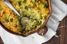Broccoli Cheese and Quinoa Casserole
