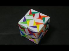 453 Origami 종이접기 (표창 문양 큐브) Cube 색종이접기 摺紙 折纸 оригами 折り紙 اوريغامي - YouTube