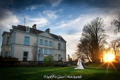 Wedding photography, bride, Moyvalley, sunset