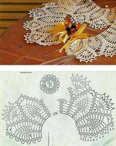 코바늘 케이프,봄패션의 완성~♬<무료공개도안> : 네이버 블로그 Crochet Collar Pattern, Col Crochet, Crochet Stitches Chart, Crochet Lace Collar, Crochet Mandala Pattern, Bead Crochet Rope, Crochet Diagram, Thread Crochet, Crochet Scarves