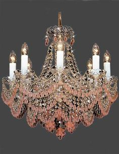 Ice Wine Chandelier by Victorian Trading Co. Victorian Chandelier, Victorian Decor, Victorian Design, Victorian Era, Lamp Light, Light Up, Home Goods Decor, Home Decor, Chandelier Lighting