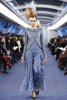 Chanel Spring 2012 Couture Fashion Show - Cara Delevingne (Elite)