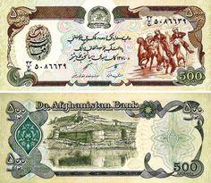 Afganistan - 500 afganis