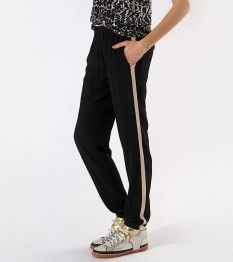 AZUR black track pant by Maje - great for spring weekends