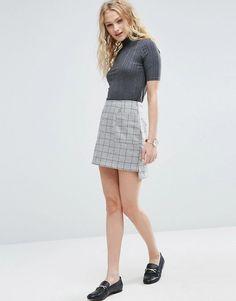 ASOS   ASOS A-Line Mini Skirt in Wool Mix