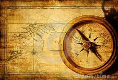 Old map with compass by Freesurf69, via Dreamstime