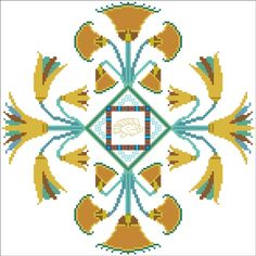 Egyptian design images | Turquoise Graphics & Designs - TGD-025 Egyptian Pond