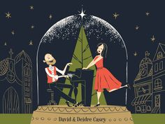 I had a TON of fun making this Christmas album artwork for Helena, Montana local musicians, David and Deidre Casey. Was very cool working with a limited color palette, outlines and those funky shap...