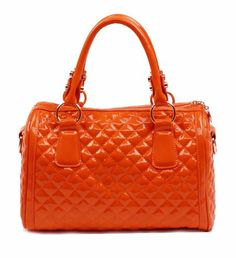 Scarleton Quilted Patent Satchel H106409 - Orange Scarleton  http   www.amazon. eda62176bb