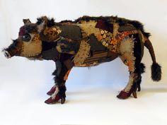wild pig by Karen Suzuki (Nameless Wonders on Etsy)