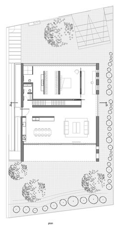 of A House for an Architect / Pitsou Kedem Architects - 34 Image 34 of 36 from gallery of A House for an Architect / Pitsou Kedem Architects. Floor PlanImage 34 of 36 from gallery of A House for an Architect / Pitsou Kedem Architects. Small House Plans, House Floor Plans, The Plan, How To Plan, Pitsou Kedem, Architecture Plan, House Layouts, Plan Design, Autocad