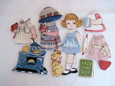 A fabric paper doll playset. The newest line from the gals at Sibling Arts Studio - Penny Rose Bakery. Great for quiet play in the car or in