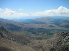 View from Mt. Bierstadt, one of Colorado's 14ers