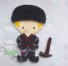 Ice Man outfit for boy felt dolls available at https://www.etsy.com/shop/SchoolhouseBoutique