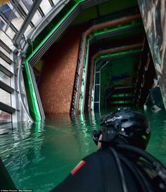 Inside flooded capsized cruise ship Costa Concordia