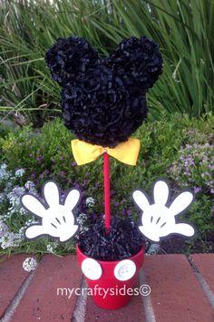 Mickey Mouse centro de mesa decoraciones para fiestas de 15