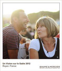Moments Captured from Un Violon sur Le Sable 2012, celebrating Baume et Mercier's commitment toseaside living, family values and relaxed casual elegance. Pin your favorite Baume et Mercier timepiece from http://www.baume-et-mercier.com/