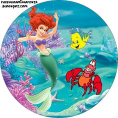 Ariel Birthday Kit - Invitations, boxes, labels, images & more.