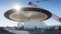 Fascinating photographs of Foster + Partners' futuristic new Apple campus — currently under construction in Cupertino, California — have been revealed. Apple Campus 2, Apple Headquarters, Foster Partners, New Drone, Glass Facades, Apple New, Apple Today, Above The Clouds, New Details