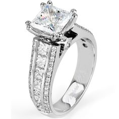 Michael M. Collection R401 Channel Set Princess Cut Diamond Engagement Ring   Goldstock Jewelers