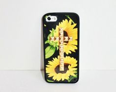 On my Christmas list... So cute! Yellow Sunflower Studded Cross iPhone case by TouchedByGrace31