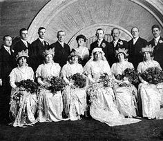 white house brides | The wedding party, on the occasion of Jesse Wilson's wedding, 1913