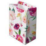 Pink and Purple Watercolor Peonies Gift Bag #weddinginspiration #wedding #weddinginvitions #weddingideas #bride