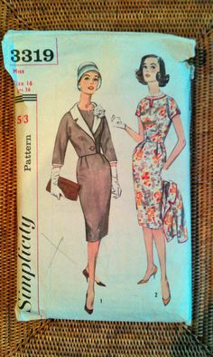 Stunning vintage Simplicity pattern for dress by InLaurelsCloset, $13.50