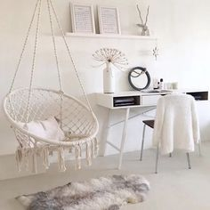 Hanging Swing Chair, Swinging Chair, Hammock Chair, Garden Hammock, Bedroom Swing Chair, Hammock In Bedroom, Rope Hammock, Macrame Hanging Chair, Teen Bedroom Chairs