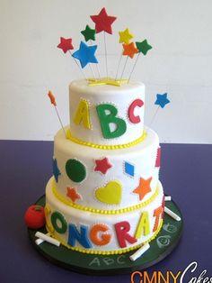 cake with stars Teacher Cakes, School Cake, Star Cakes, Cupcakes, Love Cake, Cake Designs, Birthday Celebration, Cake Decorating, Special Occasion