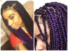 So there is a box braid fever going around.This article provides a simple way to limit breakage while wearing box braids. Box Braids Hairstyles, Shaved Side Hairstyles, Twist Hairstyles, Hairstyle Braid, Black Hairstyles, Cute Box Braids, Blonde Box Braids, Purple Braids, Cute Hairstyles For Kids